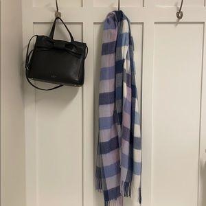 Loft Purple Plaid Blanket Scarf